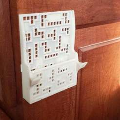 """Download free STL file Cell phone stand, wall mount, """"tetris"""" themed • 3D printer model, raulrrojas"""