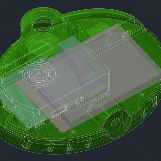 Gabinete_RAspberry_con_disco.PNG Download free STL file Raspberry Pi modern case w/ hard drive compartment & VESA holes -  Enjoy! • 3D print model, raulrrojas