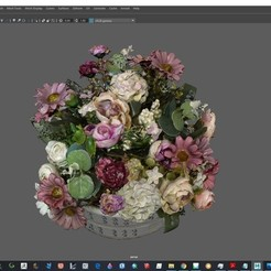 Screenshot (233).jpg Download 3DS file Flower bouquet • 3D printable design, gunoghlu
