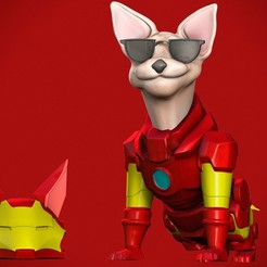 4.jpg Download STL file Iron man dog • 3D printing model, CreationsRC