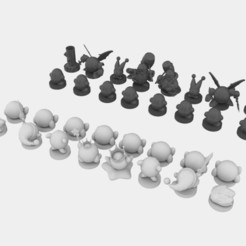 Complete 1.jpeg Download STL file Kirby Chess Set • Object to 3D print, roccoajr