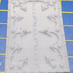 TOP HATCH rhino csm trims v26 - Type B.jpg Download STL file Chaos space marines Rhino top hatch trims / decorations (Type B) • 3D print template, anothertime