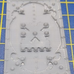 TOP HATCH rhino csm trims v26 - Type A.jpg Download STL file Chaos space marines Rhino top hatch trims / decorations (Type A - Khorne) • 3D printable template, anothertime