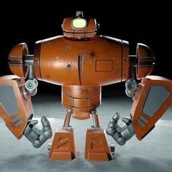Robot A.jpg Download STL file Cyclops Robot • 3D printable model, EB-DESIGN-3D