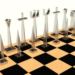 Download STL Modern Chess Board, letitbe-design