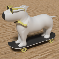 Download 3D printing models Dog Keyring in Skater, letitbe-design