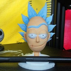 Descargar archivos 3D rick and morty (rick head - pencil holder), wdnieto