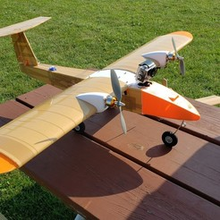 Download free 3D model HF3D Nebula [Hybrid foam and 3D printed RC Plane], FurEter