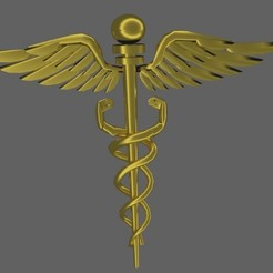 caduceo3d.jpg Download OBJ file caduceus3d • 3D printer object, nicogalvan