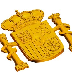 Download 3D printer designs SPANISH COAT OF ARMS CONSTITUTIONAL, kitecattarifa