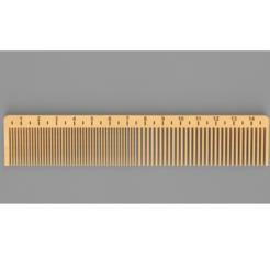 ruler comb.png Download STL file Ruler Comb • Object to 3D print, anil-baris