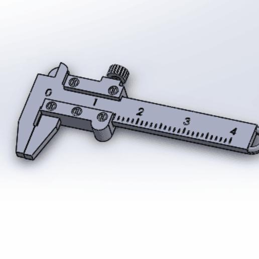 Download STL Vernier Caliper Keychain, anil-baris