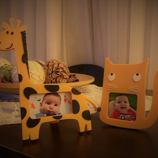 zuro_2.jpg Download free STL file Giraffe photo frame • 3D printable template, JustAmaze