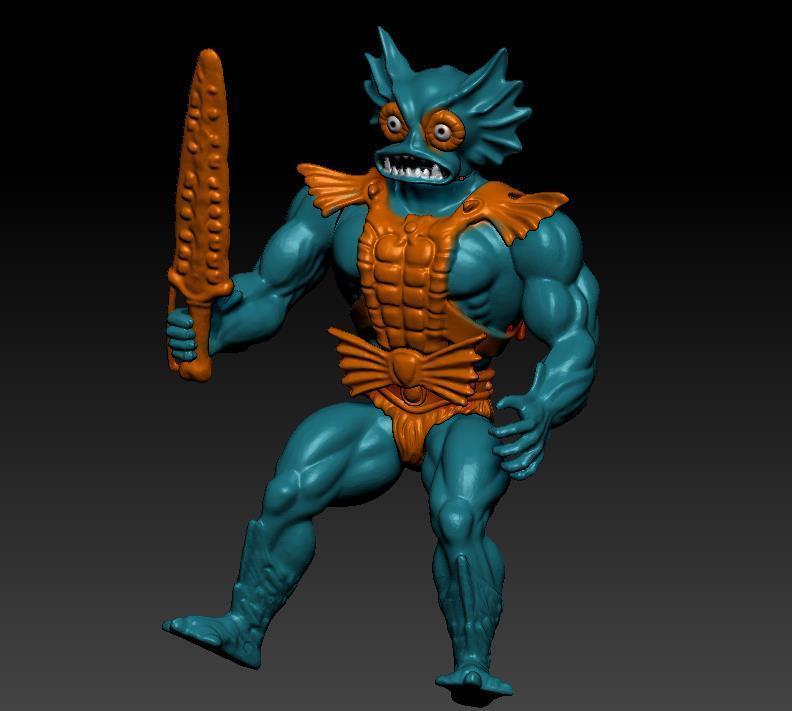 ScreenShot753.jpg Download STL file He-man Merman Motu stile action figure • 3D printable design, DESERT-OCTOPUS