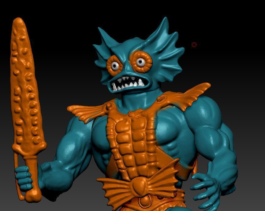 ScreenShot747.jpg Download STL file He-man Merman Motu stile action figure • 3D printable design, DESERT-OCTOPUS