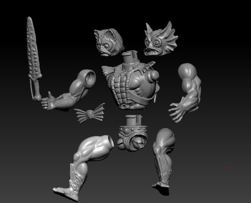 ScreenShot765.jpg Download STL file He-man Merman Motu stile action figure • 3D printable design, DESERT-OCTOPUS