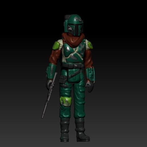 ScreenShot880.jpg Download OBJ file STAR WARS .STL THE MANDALORIAN, THE MARSHALL, Cobb Vanth OBJ. KENNER STYLE ACTION FIGURE. • 3D printing model, DESERT-OCTOPUS