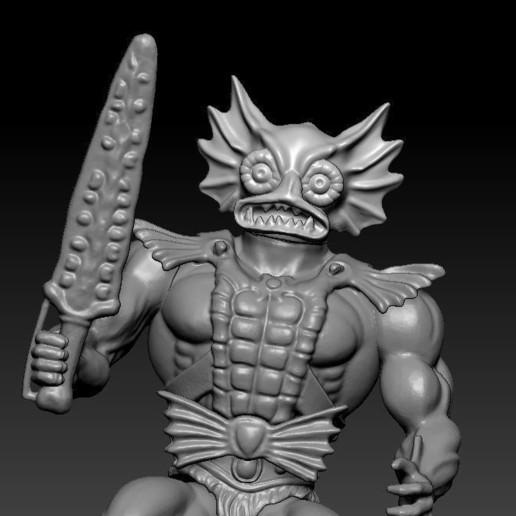 ScreenShot761.jpg Download STL file He-man Merman Motu stile action figure • 3D printable design, DESERT-OCTOPUS