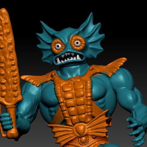 ScreenShot748.jpg Download STL file He-man Merman Motu stile action figure • 3D printable design, DESERT-OCTOPUS