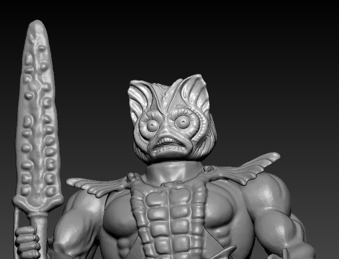 ScreenShot757.jpg Download STL file He-man Merman Motu stile action figure • 3D printable design, DESERT-OCTOPUS