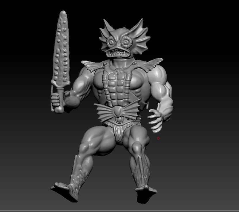 ScreenShot755.jpg Download STL file He-man Merman Motu stile action figure • 3D printable design, DESERT-OCTOPUS