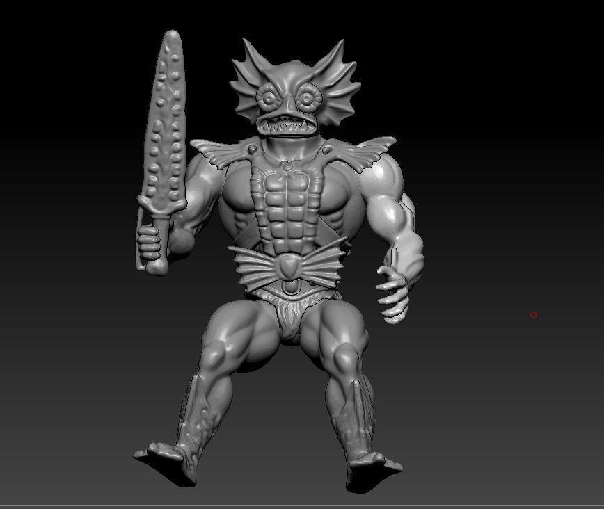 ScreenShot754.jpg Download STL file He-man Merman Motu stile action figure • 3D printable design, DESERT-OCTOPUS