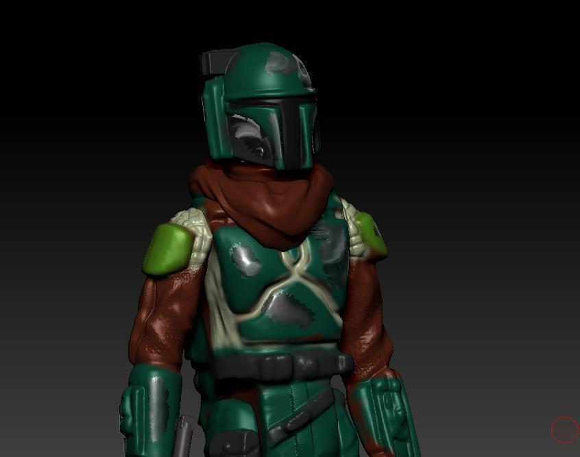 ScreenShot883.jpg Download OBJ file STAR WARS .STL THE MANDALORIAN, THE MARSHALL, Cobb Vanth OBJ. KENNER STYLE ACTION FIGURE. • 3D printing model, DESERT-OCTOPUS