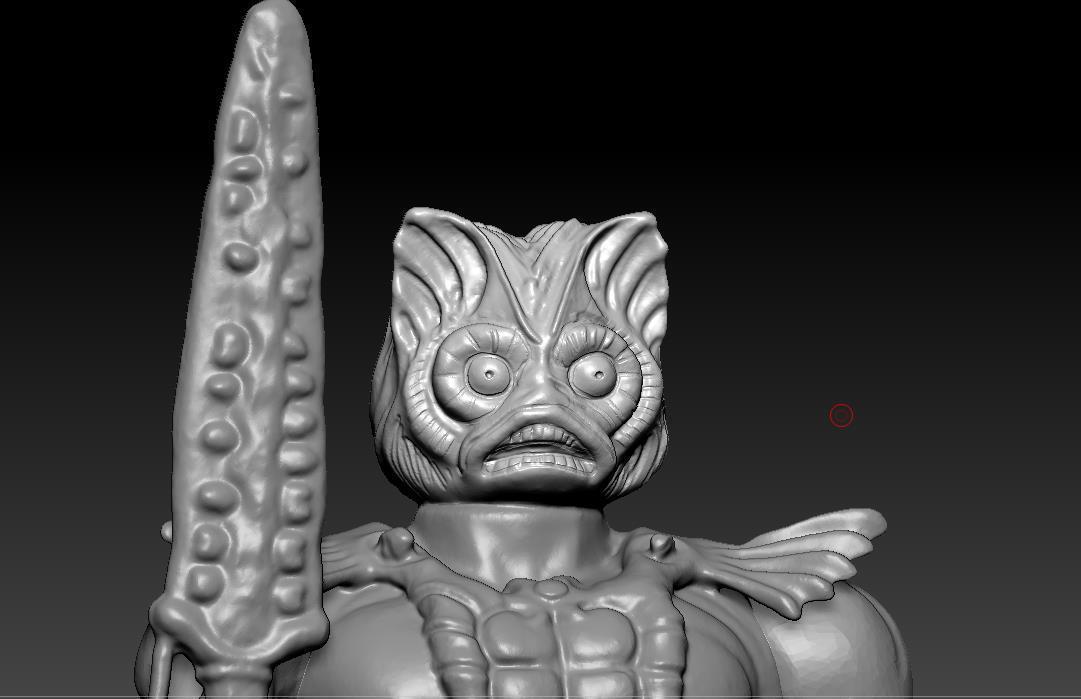 ScreenShot759.jpg Download STL file He-man Merman Motu stile action figure • 3D printable design, DESERT-OCTOPUS