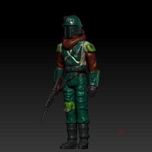 ScreenShot881.jpg Download OBJ file STAR WARS .STL THE MANDALORIAN, THE MARSHALL, Cobb Vanth OBJ. KENNER STYLE ACTION FIGURE. • 3D printing model, DESERT-OCTOPUS
