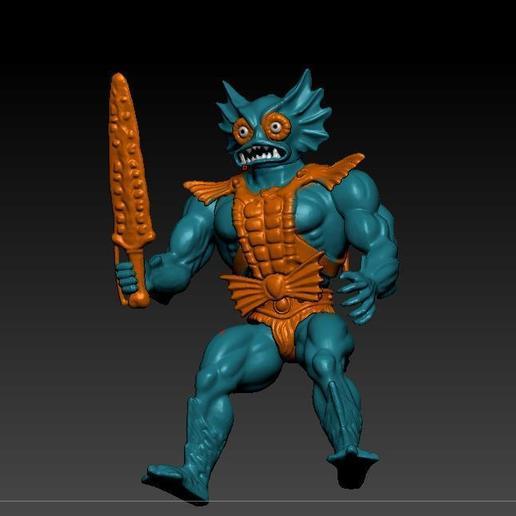 ScreenShot750.jpg Download STL file He-man Merman Motu stile action figure • 3D printable design, DESERT-OCTOPUS