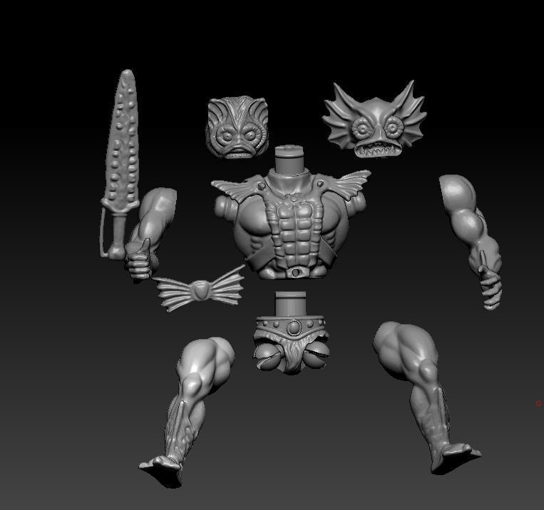 ScreenShot764.jpg Download STL file He-man Merman Motu stile action figure • 3D printable design, DESERT-OCTOPUS