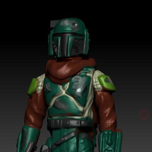 ScreenShot882.jpg Download OBJ file STAR WARS .STL THE MANDALORIAN, THE MARSHALL, Cobb Vanth OBJ. KENNER STYLE ACTION FIGURE. • 3D printing model, DESERT-OCTOPUS