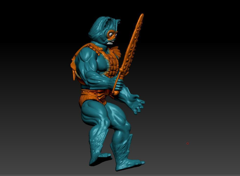 ScreenShot743.jpg Download STL file He-man Merman Motu stile action figure • 3D printable design, DESERT-OCTOPUS