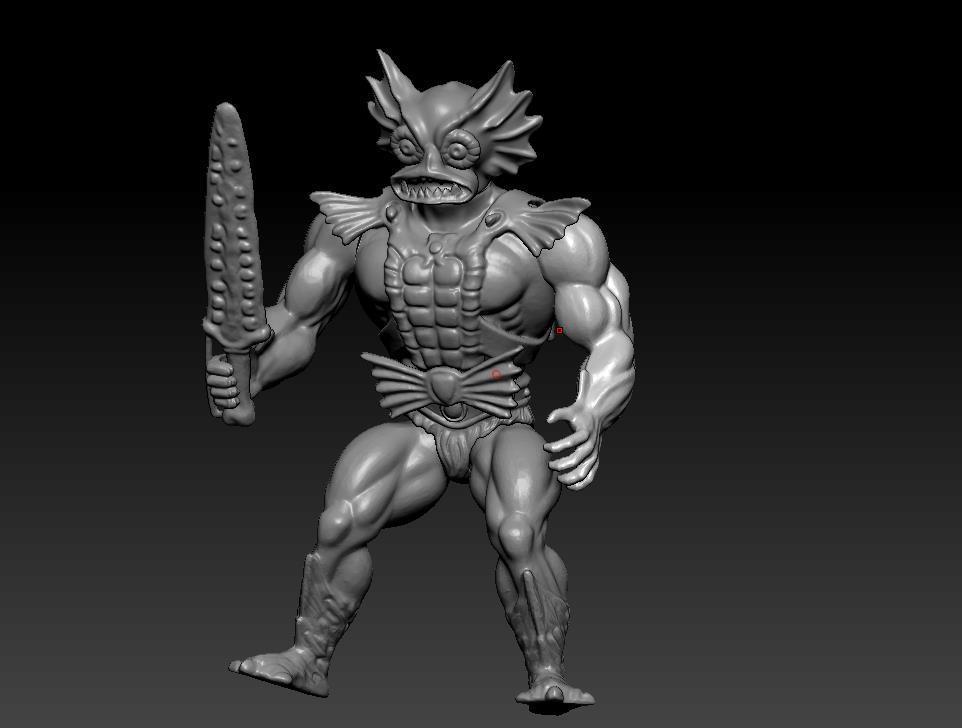 ScreenShot756.jpg Download STL file He-man Merman Motu stile action figure • 3D printable design, DESERT-OCTOPUS