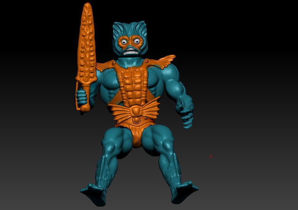 ScreenShot741.jpg Download STL file He-man Merman Motu stile action figure • 3D printable design, DESERT-OCTOPUS