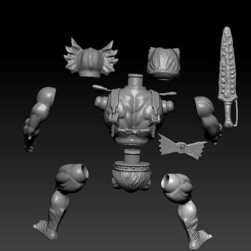 ScreenShot763.jpg Download STL file He-man Merman Motu stile action figure • 3D printable design, DESERT-OCTOPUS