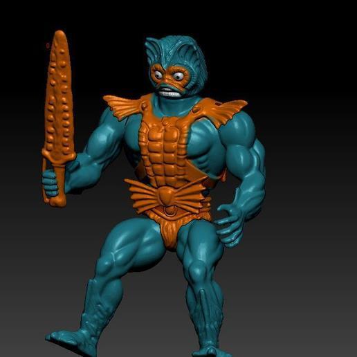 ScreenShot742.jpg Download STL file He-man Merman Motu stile action figure • 3D printable design, DESERT-OCTOPUS