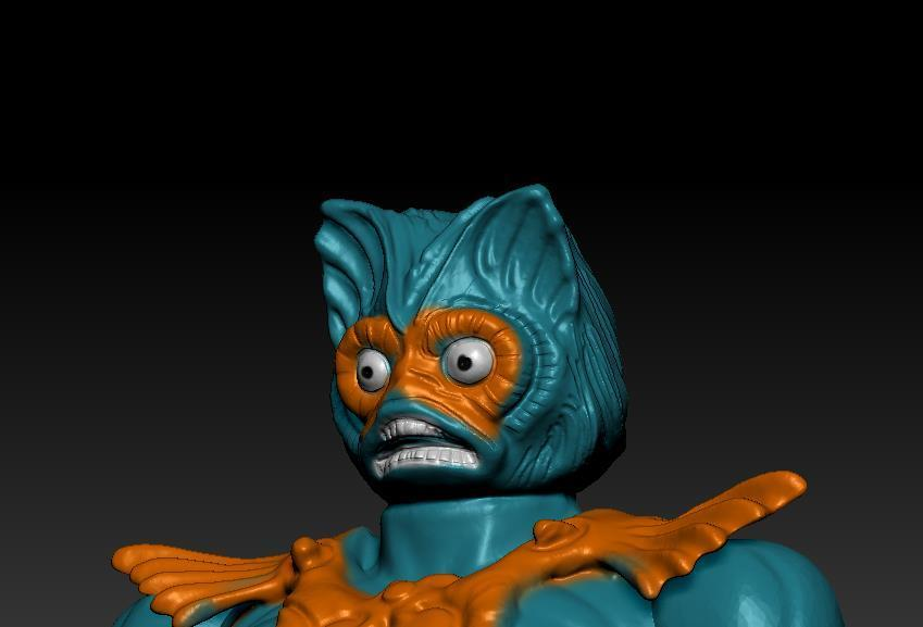ScreenShot744.jpg Download STL file He-man Merman Motu stile action figure • 3D printable design, DESERT-OCTOPUS