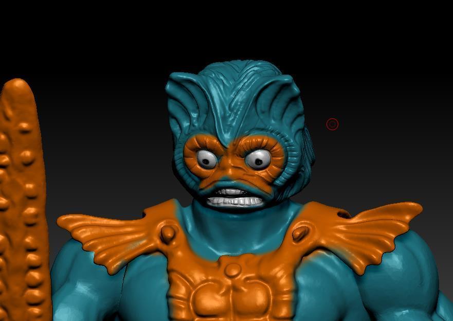 ScreenShot745.jpg Download STL file He-man Merman Motu stile action figure • 3D printable design, DESERT-OCTOPUS