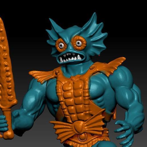 ScreenShot749.jpg Download STL file He-man Merman Motu stile action figure • 3D printable design, DESERT-OCTOPUS