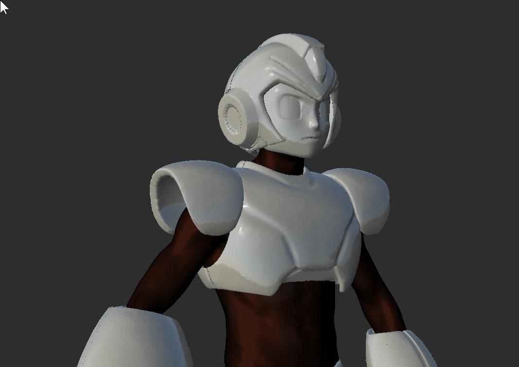 ScreenShot157.jpg Download STL file Megaman Cosplay Rockman Cosplay Helmet and Full Armor staff suit • Template to 3D print, DESERT-OCTOPUS