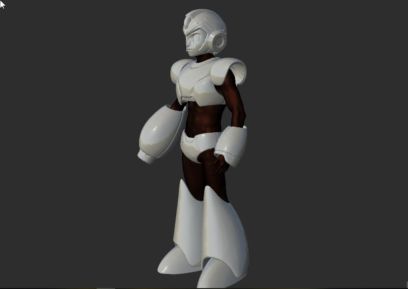 ScreenShot155.jpg Download STL file Megaman Cosplay Rockman Cosplay Helmet and Full Armor staff suit • Template to 3D print, DESERT-OCTOPUS