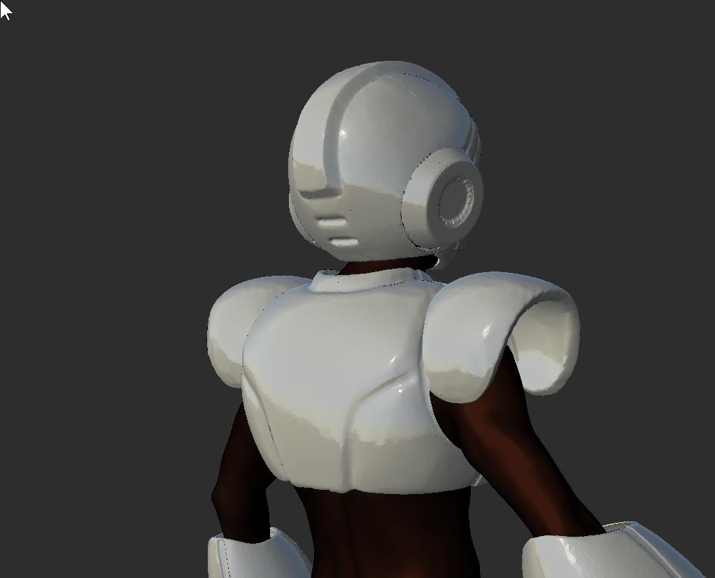 ScreenShot156.jpg Download STL file Megaman Cosplay Rockman Cosplay Helmet and Full Armor staff suit • Template to 3D print, DESERT-OCTOPUS