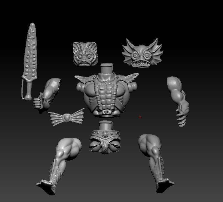 ScreenShot762.jpg Download STL file He-man Merman Motu stile action figure • 3D printable design, DESERT-OCTOPUS