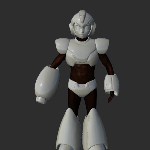 ScreenShot154.jpg Download STL file Megaman Cosplay Rockman Cosplay Helmet and Full Armor staff suit • Template to 3D print, DESERT-OCTOPUS
