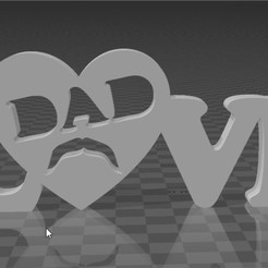 DadLove - 3D Builder_2.jpg Download STL file Father's Day • Template to 3D print, jeffersonsaavedrapaiva