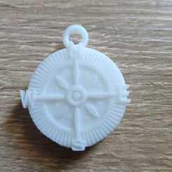 6.jpeg Download STL file Compass pendant • Model to 3D print, fdosc1996