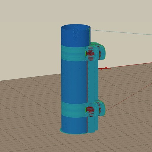 tube_print_right_up_with_support.jpg Download free STL file WPL C14 Side Fuel Tank for Li-Ion 18650 • 3D print design, EdwardChew