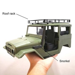 C34_Accessories_set.jpg Download free STL file WPL C34 Roof Rack & Accessories • 3D printing model, EdwardChew