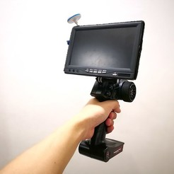 Download free STL file Austar AX5S FPV Display Gopro Mount, EdwardChew
